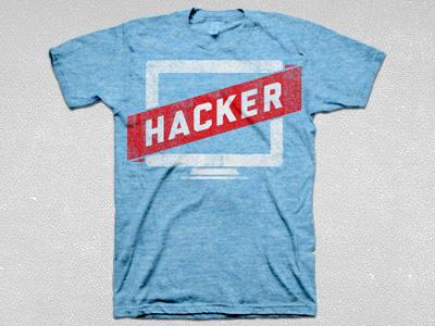 Hacker tee blue