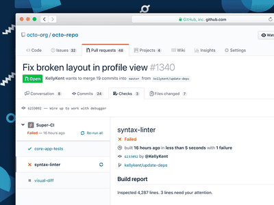 GitHub Checks API user interface design platform ecosystem application design product design