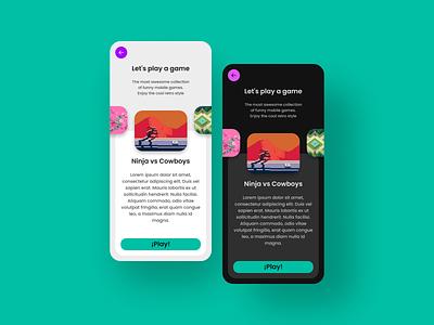 Arcade App material ui materialdesign mobile ui app ux design ui