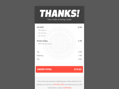 Daily UI - #017 - Email Receipt