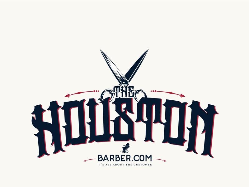 THB5 01 scissors red blue house logo barber houston
