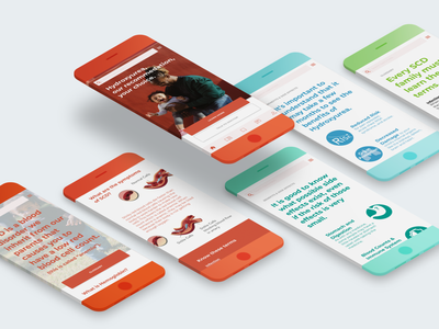 Sickle Cell Disease Education user experience web design scenarios card sorting usability testing health children doctor ux user flow ui identity design research app education patient app healthcare