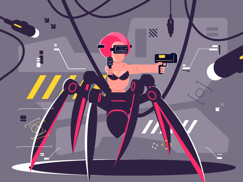 Spider Girl design illustration
