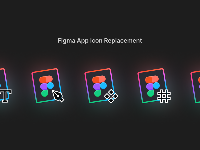 Figma App Icon Replacement (.icns) tovi mac os icon mac icon app pen figma icon icns