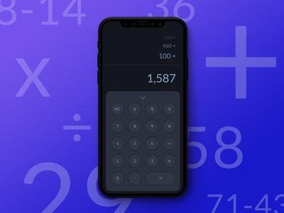 Daily UI: 004 Calculator Dribbble