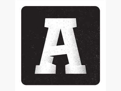 A type illustration letterform letter 36days