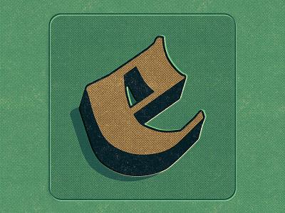 E illustration e letter lettering 36days 36daysoftype type
