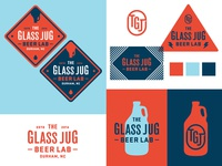 The Glass Jug Beer Lab identity