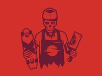 Slaughterhouse Boards: Butcher logo