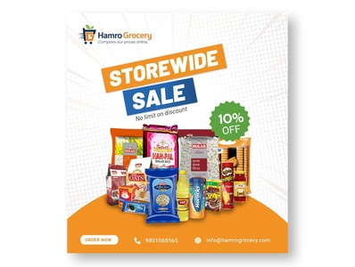 Grocery ad banner grocery web branding app advertising banners banner banner design illustration banner ad grocery store design