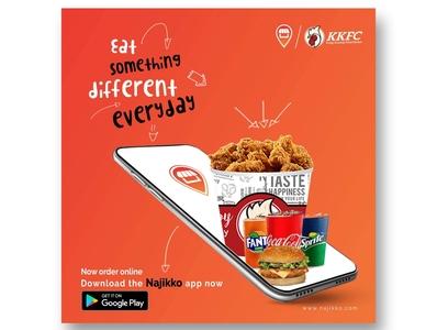 Food banner grocery store branding advertising app illustration design