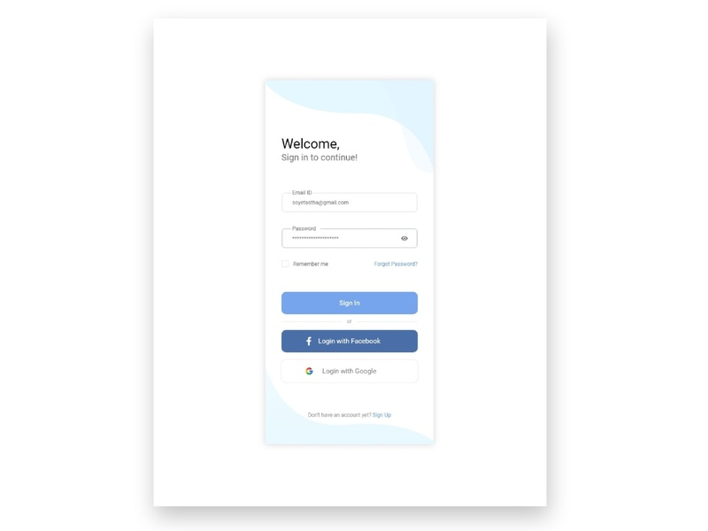 Daily UI challenge day (1)