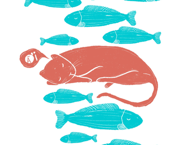 Giant catfish - sleepy