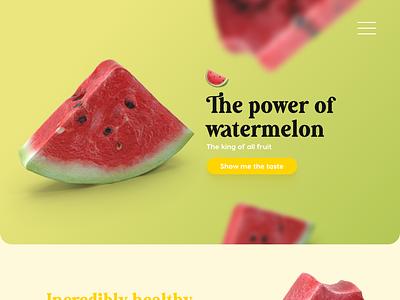 Watermelon🍉UX/UI webdesign yellows yellow greenery green website design web design website web webdesign watermelon ui design uidesign uiux ui ui  ux ux design uxdesign ux  ui uxui ux