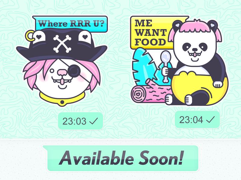 Shmancy & Friends© WhatsApp Sticker Pack kawaii cute sticker illustrator whatsapp character illustration vector