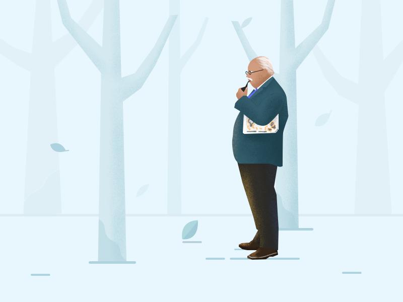 old man design ui illustration