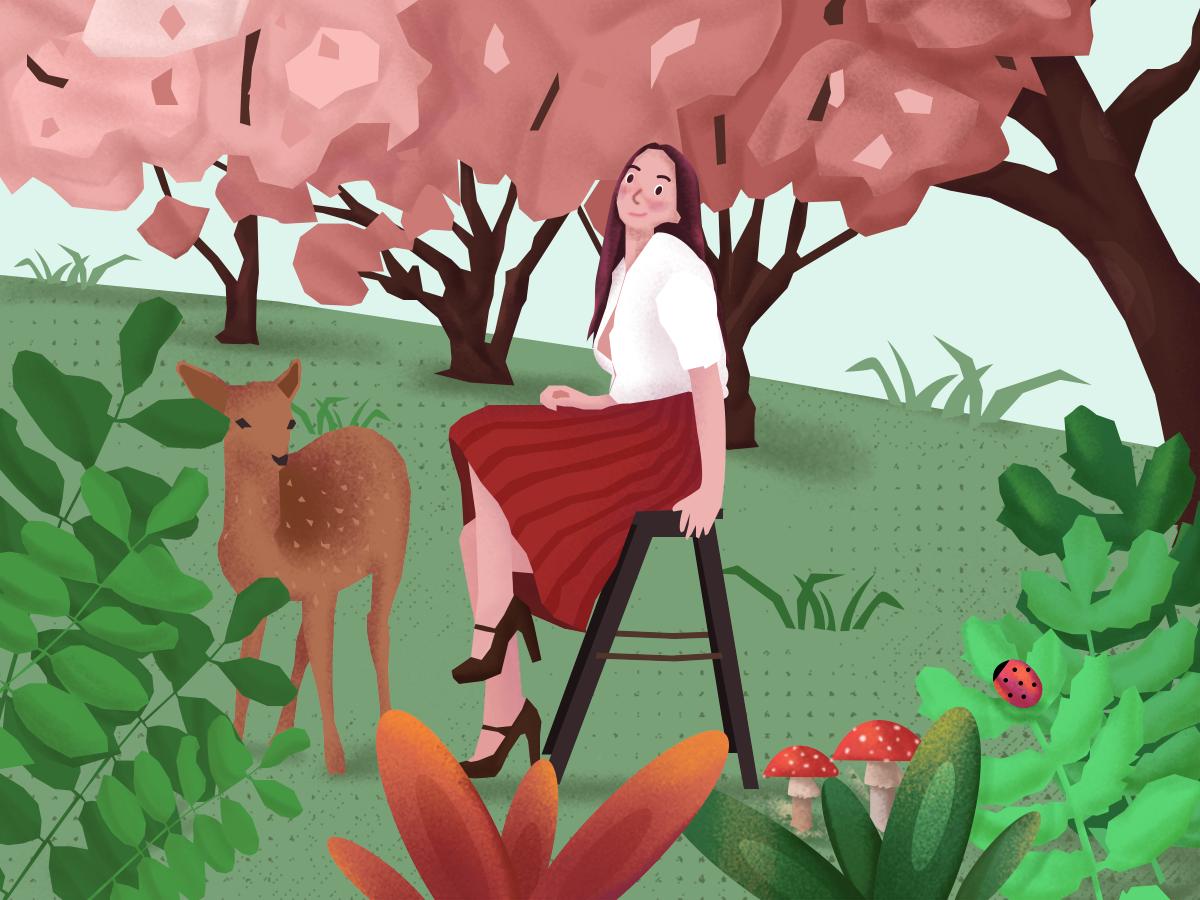 Spring ui design illustration