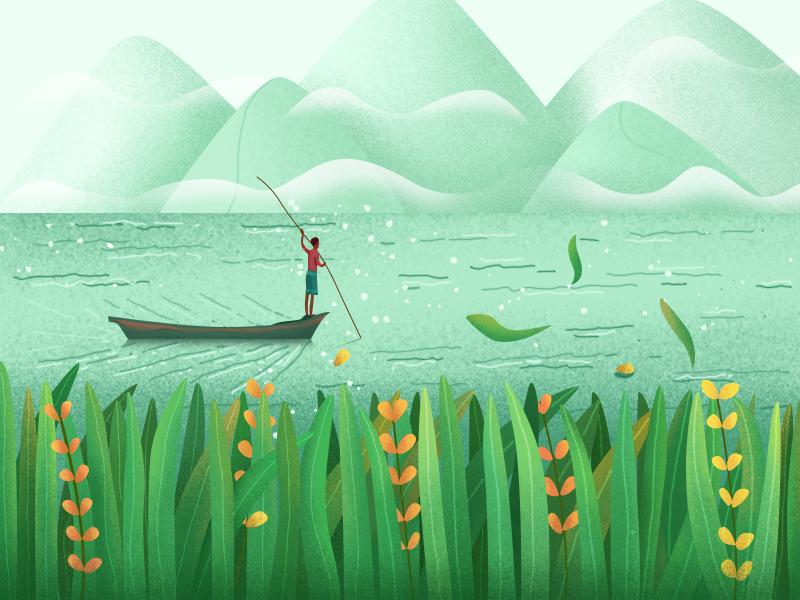 春天的颜色 ui design illustration