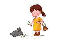 The girl and The rabbit