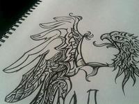 Eagle doodle Process