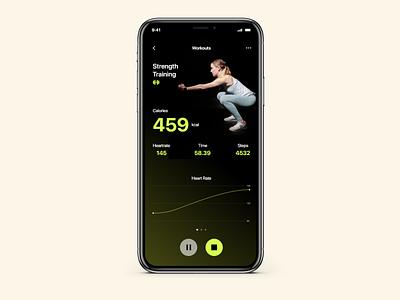 Practice Shots #1 gym app dark app dark ui activity tracker fitness app fitness mobile ui mobile app chennai app design ui app interface design