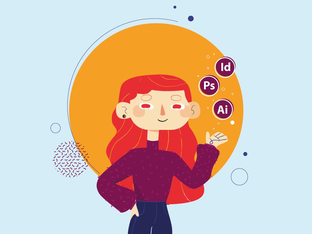 Hello Dribble character illustration firstshot illustrator