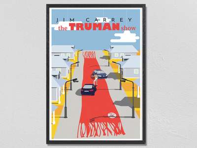 The Truman Show Poster photoshop illustrator cc movie poster illustration