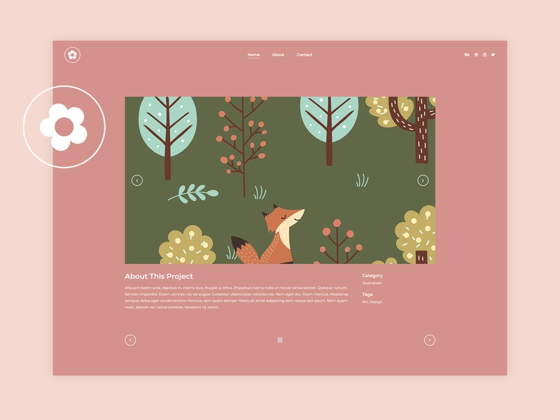 Illustration Portfolio Single Page wordpress vectors template theme presentation portfolio illustrator portfolio illustration designer portfolio design creative colorful