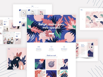 Bolge template theme wordpress personal portfolio illustrator portfolio designer portfolio studio agency creative vectors colorful portfolio design illustration