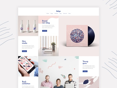 Bolge - Creative portfolio for designers and artists vectors wordpres theme template studio blog personal portfolio illustration portfolio design creative colorful agency
