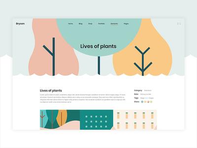 Bryson Fullscreen Slider vectors illustraion wordpress template studio portfolio design creative agency theme colorful