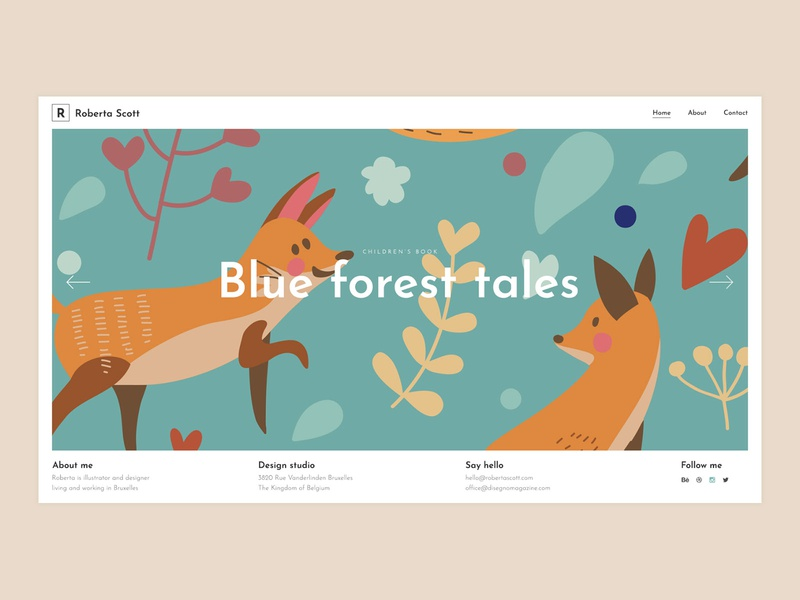 Portfolio Compact agency creative vectors template simple colorful studio illustration design portfolio