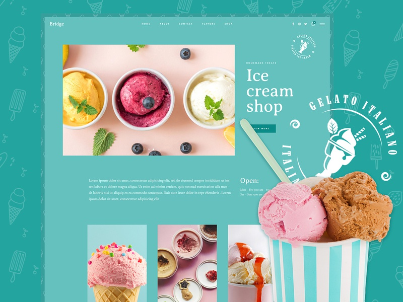 Gelateria colorful sweet delicious gelato gelateria treats homemade dessert icecream