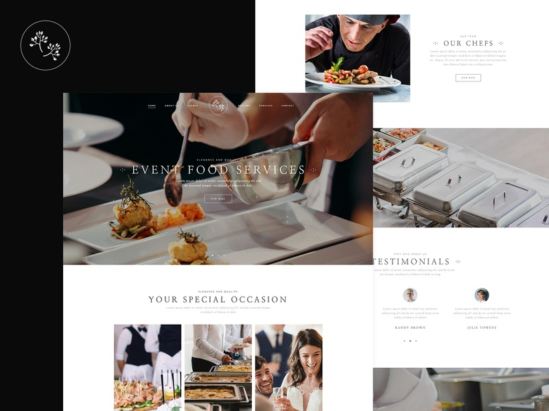 Catering Service modern elegant events food wedding catering corporate catering business catering company catering