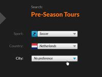 Search Pre-Season Tours