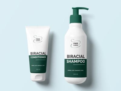 Biracial Shampoo & Conditioner Design