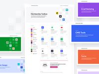 Membership Toolbox in Live! 🎉 header detail category website mosaic clean apps landing web web design