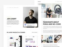 JanLosert.com (V4) - Live 🎉 about landing ui minimal contact cv 404 store website portfolio website portfolio