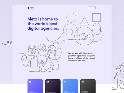 Meta.inc – Live! 🎉 webflow meta tiny landing portfolio web design web website webdesign