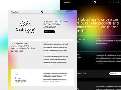 Prism Data by Petal is Live! 🎉 prism petal clean finance fintech product about web design website webflow gradient gradients dark landing web