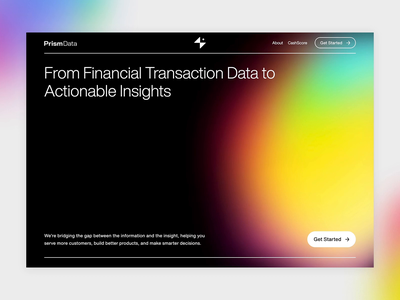 Prism Data by Petal is Live! 🎉 prism petal clean finance fintech product about web design website webflow gradient gradients dark landing web
