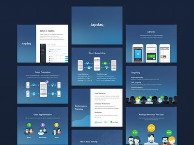 Tapdaq - Product Deck powerpoint presentation product dark dashboard profile graph deck web summary ui keynote