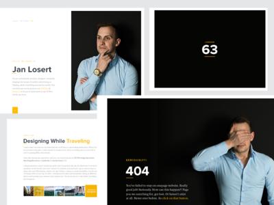 JanLosert.com 2016 | WIP webdesign minimal index designer contact animation ui dashboard 404 loader portfolio
