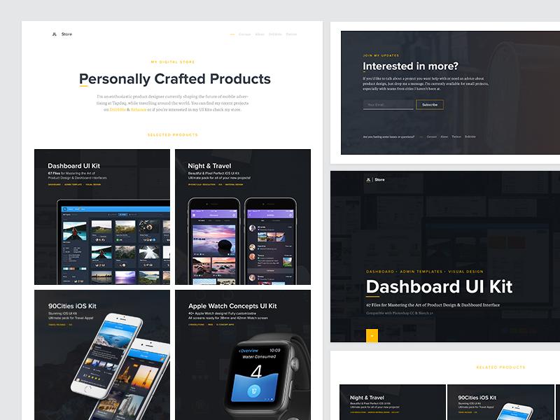 JanLosert.com - Store webdesign minimal store designer contact animation ui dashboard 404 loader portfolio