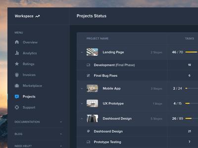 Dark Layouts - Dashboard UI Kit Update