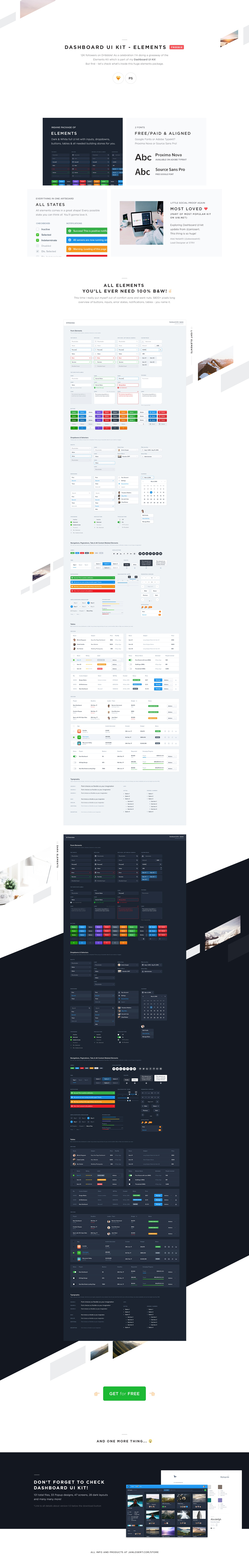 Dashboard ui kit   elements  freebie    full preview