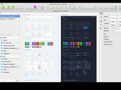 (Freebie) Dashboard UI Kit - Elements ui clean manager web apps table graph profile dashboard dark styleguide ui kit