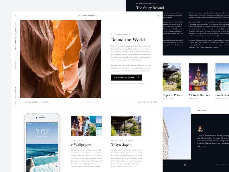 Wallpapers Full Preview australia new york download freebie navigation wallpaper clean white minimal ios landing simple