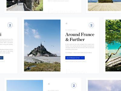 Around France & Further (Wallpapers vol. 2)(FREE) wallpaper clean white minimal cart landing simple navigation freebie download france dolomiti