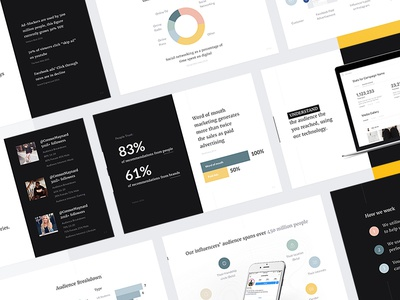 Filli - Product Deck (Part 2) presentation product clean dashboard profile graph deck web summary minimal keynote powerpoint